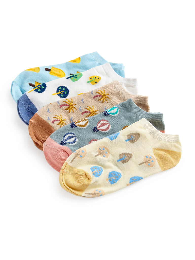 Cartoon Pattern Socks 5pairs (3)