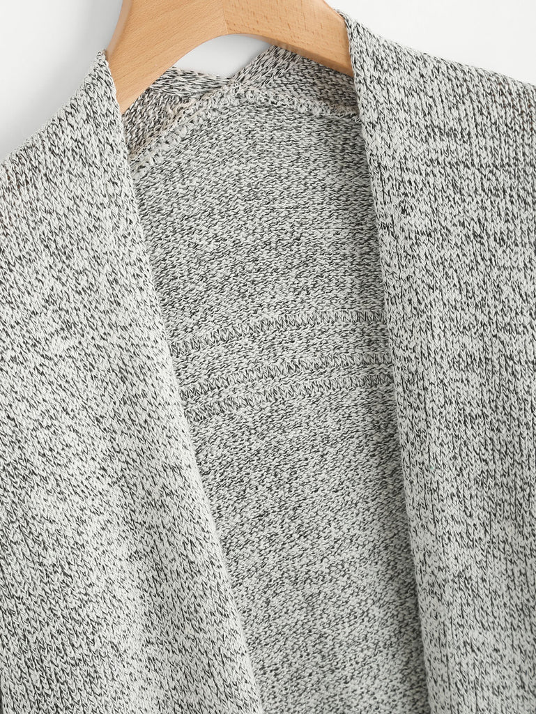 Drop Shoulder Marled Slub Cardigan (2)