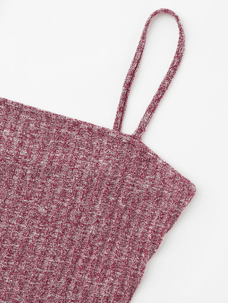 Rib Knit Marled Cami Top (3)