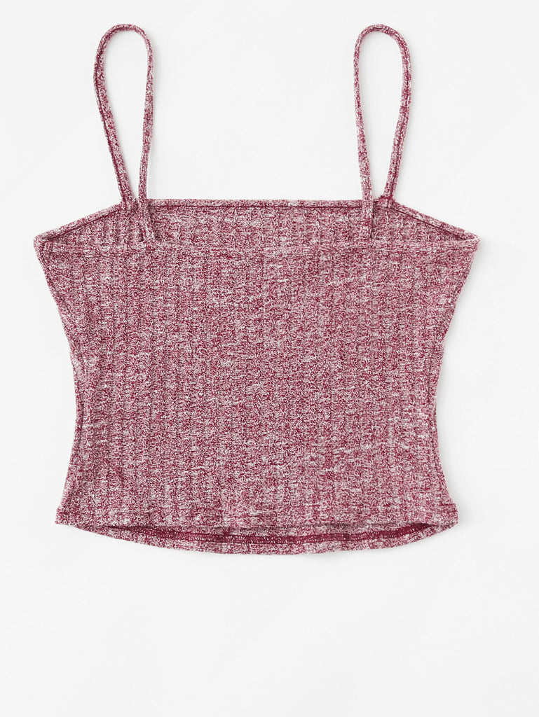 Rib Knit Marled Cami Top (2)