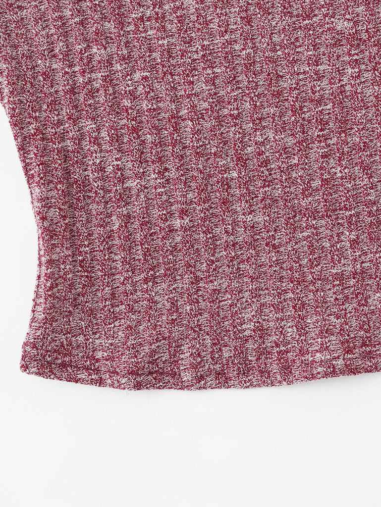 Rib Knit Marled Cami Top (4)