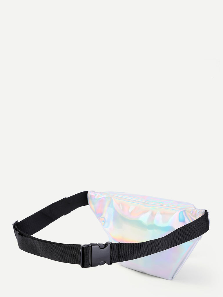 Iridescent Fanny Pack With Skinny Belt (2)