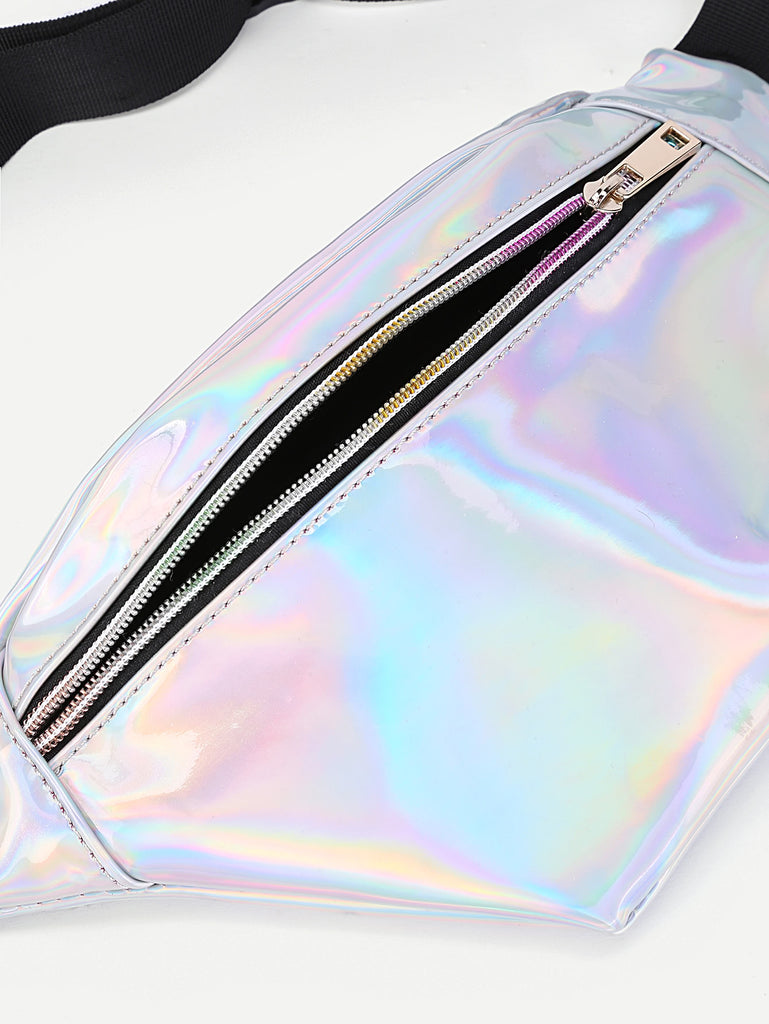 Iridescent Fanny Pack With Skinny Belt (3)