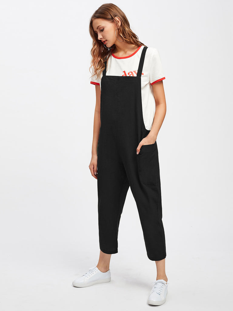 Pocket Side Overall Pants