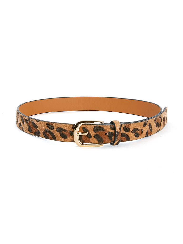 Buckle Design Leopard PU Belt