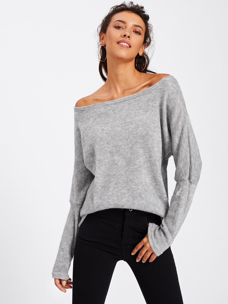 Batwing Sleeve Sweater (3)