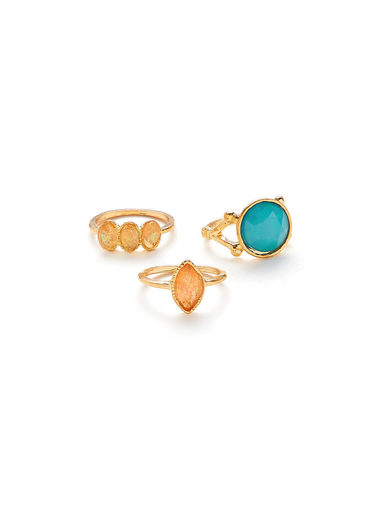 Gemstone Ring Set 3pcs (3)