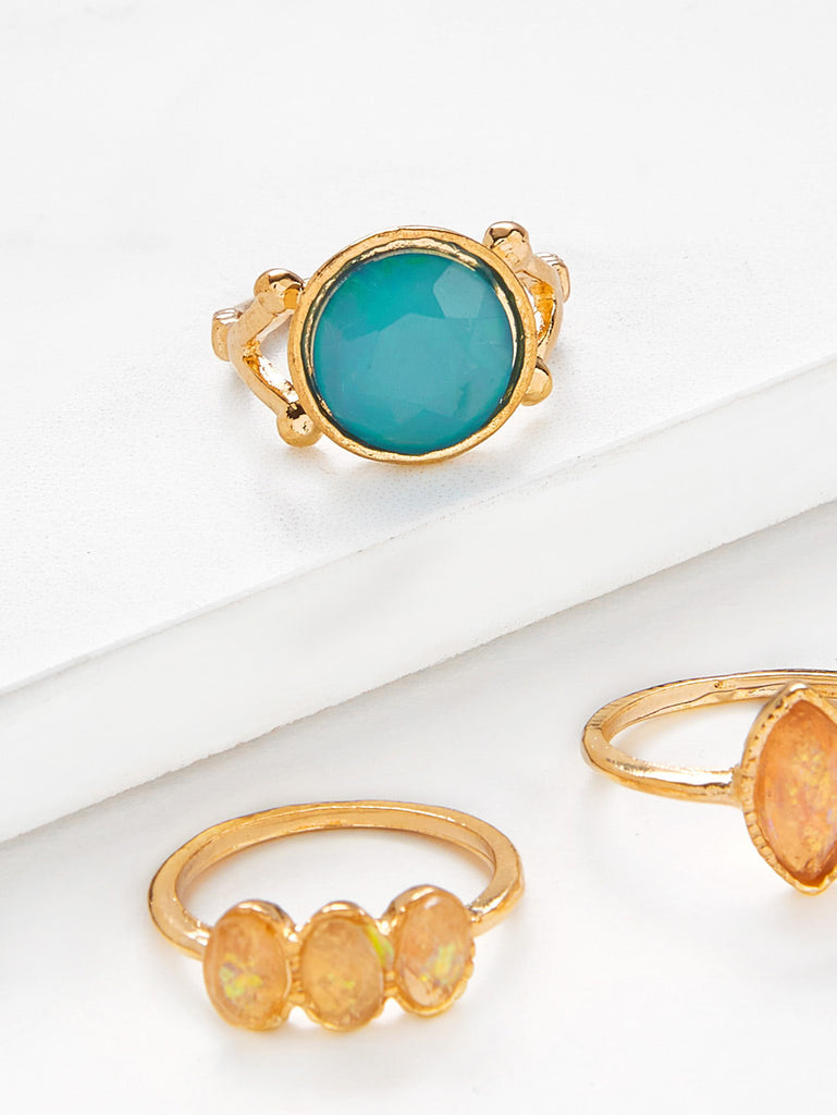 Gemstone Ring Set 3pcs (2)