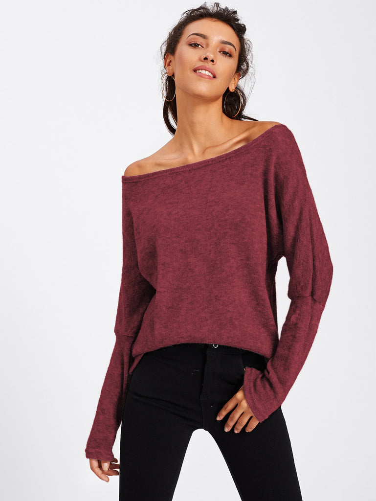 Batwing Sleeve Sweater (2)