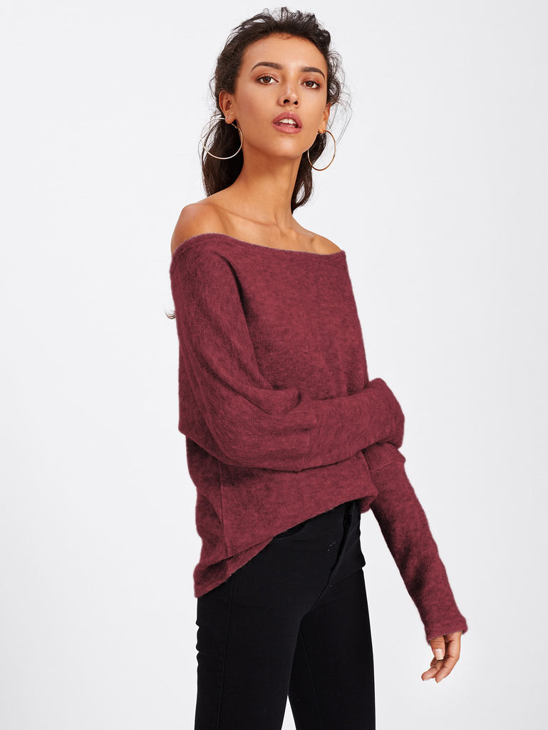 Batwing Sleeve Sweater (4)