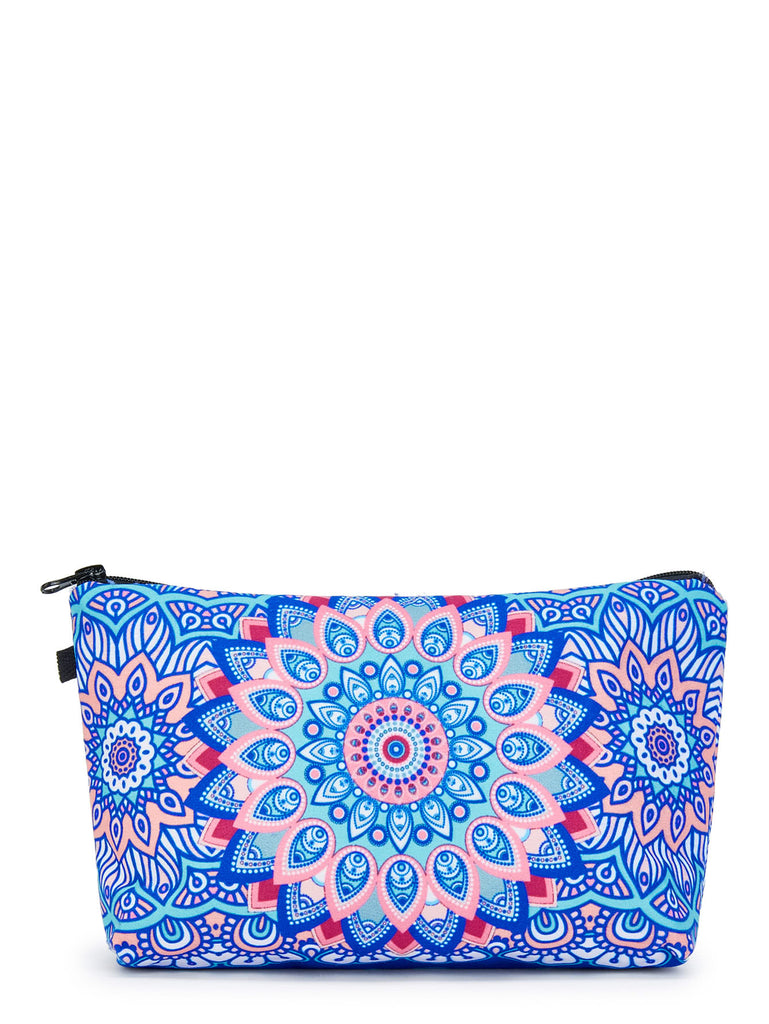 Graphic Print Zipper Pouch