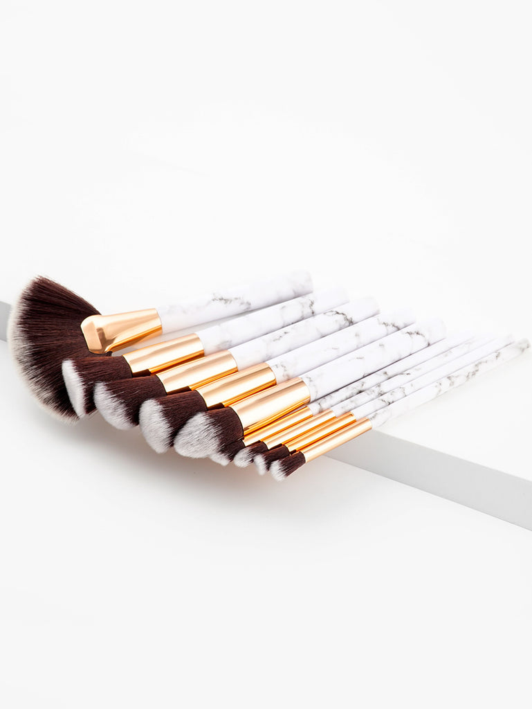 Marble Pattern Handle Brush Set 9pcs (2)