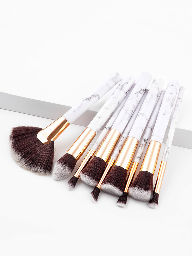 Marble Pattern Handle Brush Set 9pcs (3)