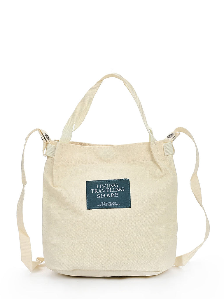 Simple Canvas Bucket Bag