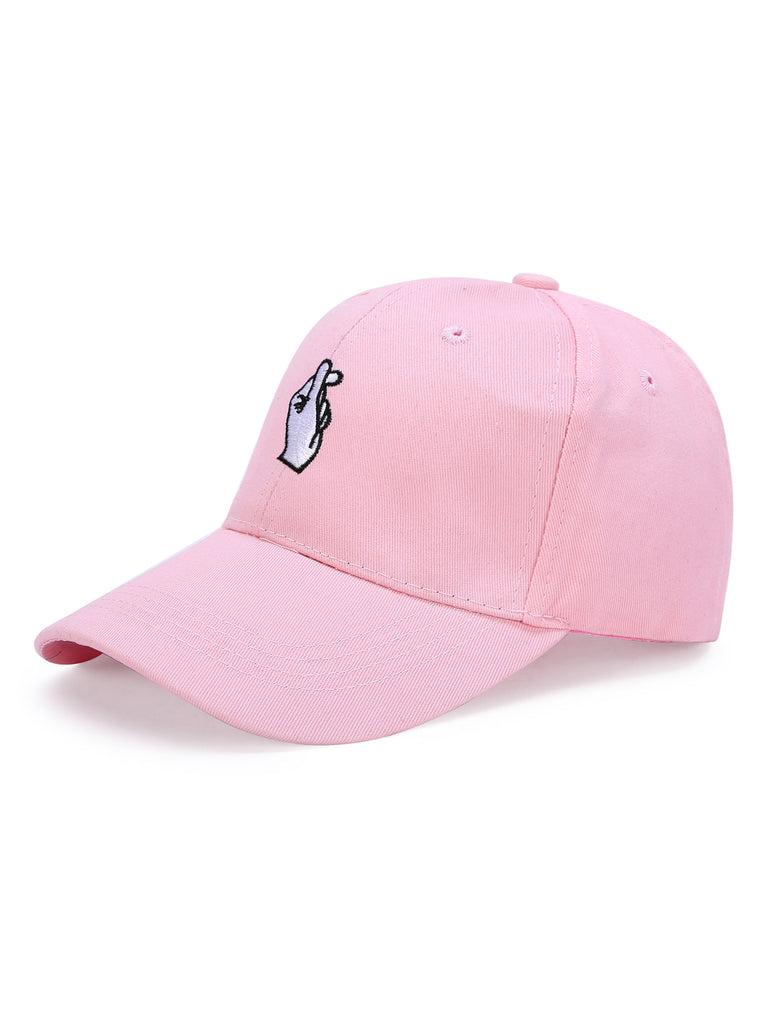 Embroidered Finger Detail Baseball Cap