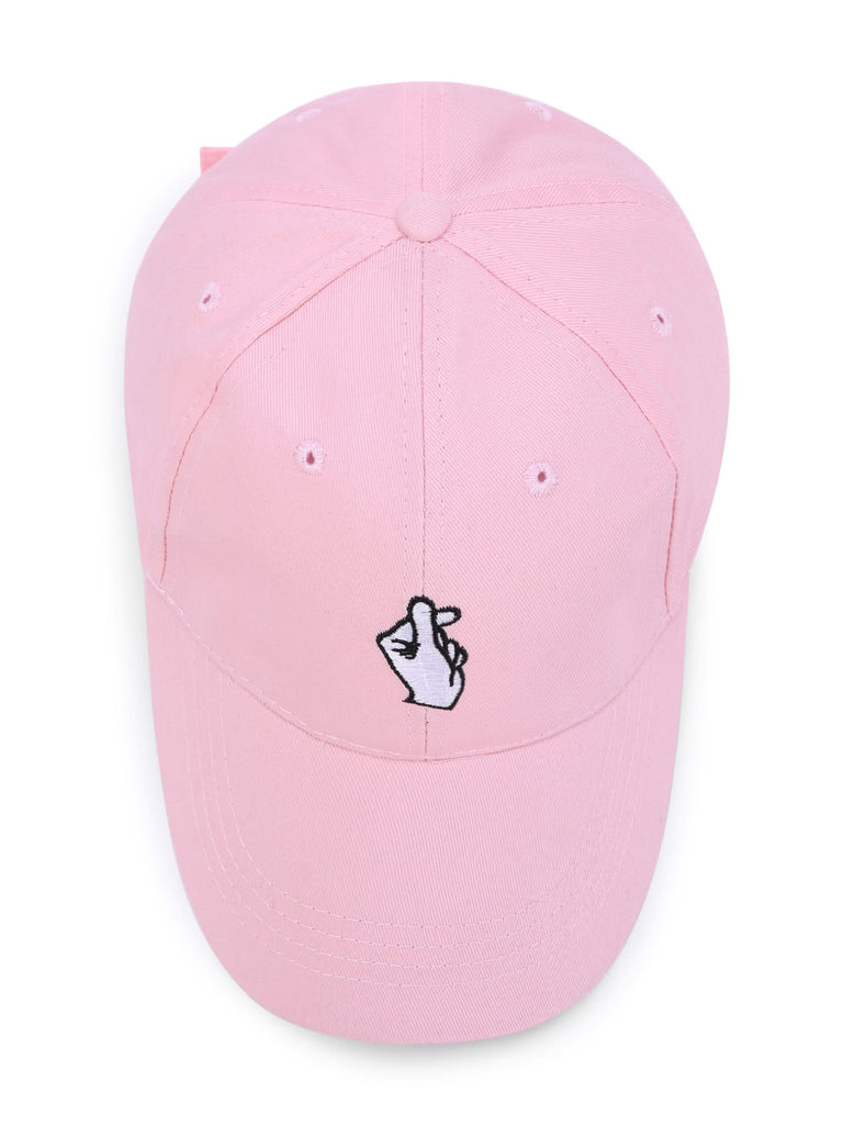 Embroidered Finger Detail Baseball Cap (2)