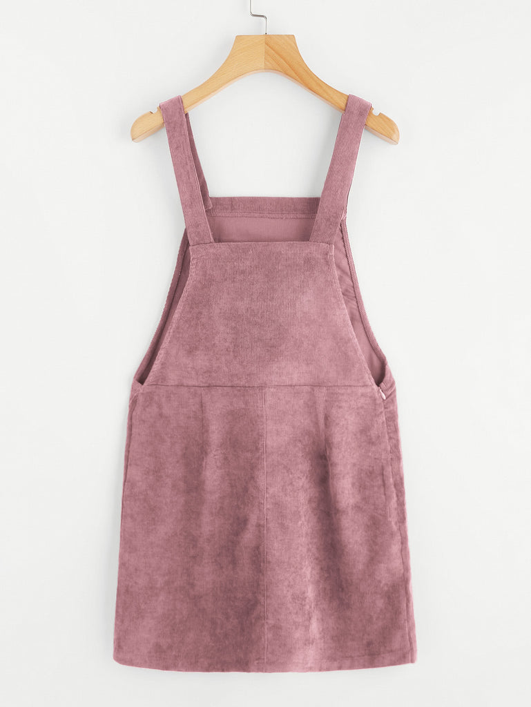 Bib Pocket Front Overall Dress (3)