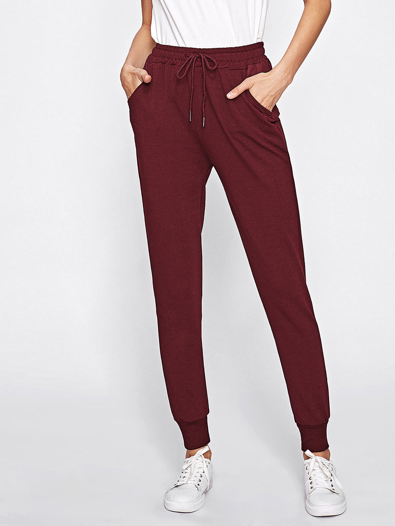 Drawstring Waist Sweatpants