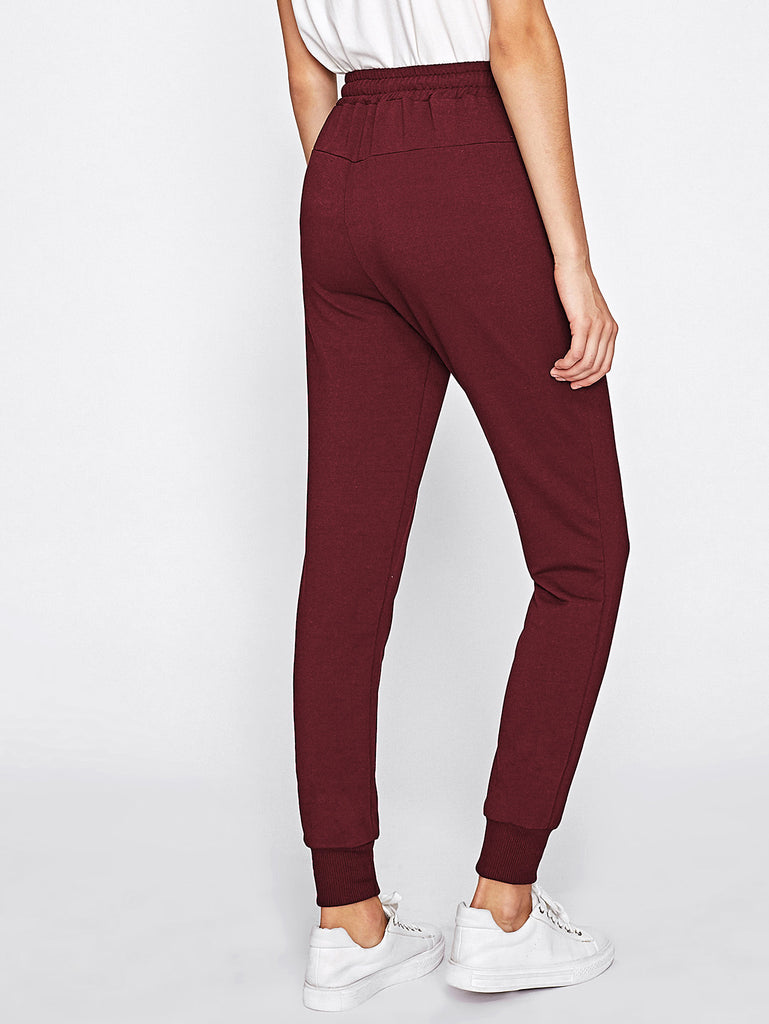 Drawstring Waist Sweatpants (3)