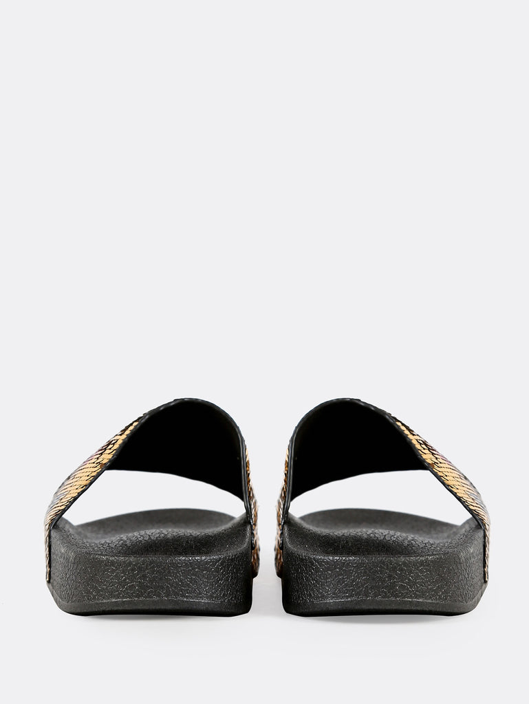 Love Sequin Slippers GOLD (3)