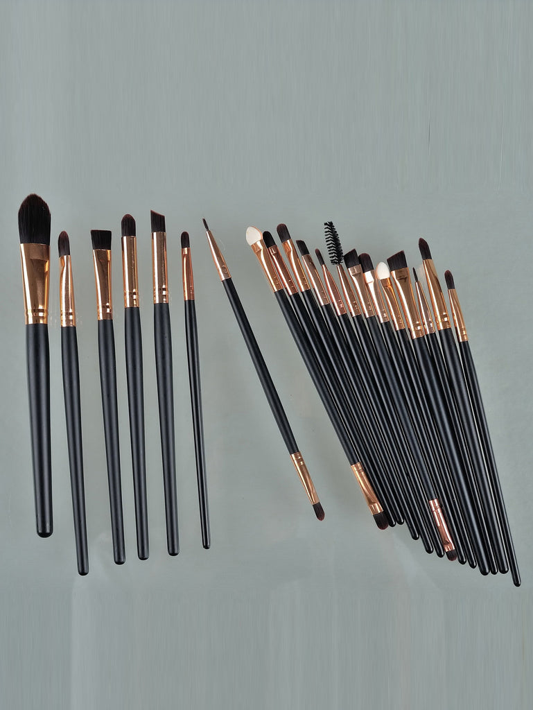 20pcs Professional Makeup Brushes Set Metal Make Up Brush Set-Black (3)