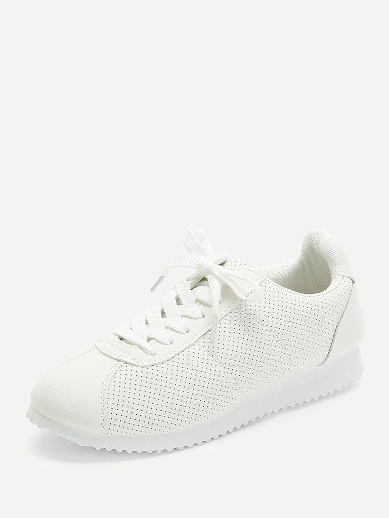 Low Top Lace Up Sneakers (4)