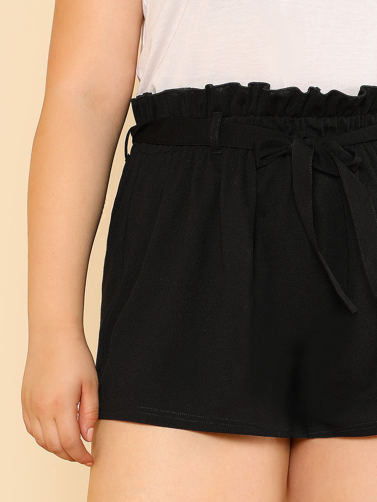 Self Belted Wide Leg Shorts (3)
