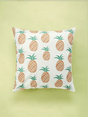 Pineapple Overlay Print Cushion Cover