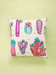 Cartoon Cactus Print Cushion Cover