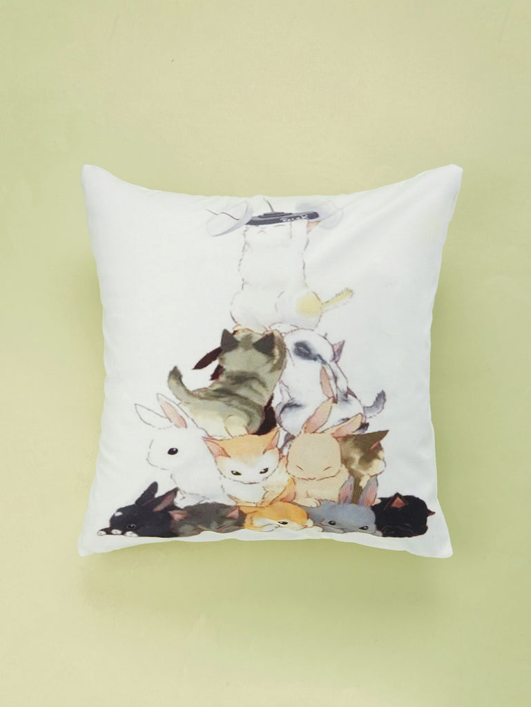 Cat Print Cushion Cover