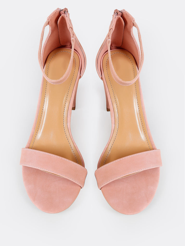 Single Band Zip Back Chunky Heel BLUSH (2)