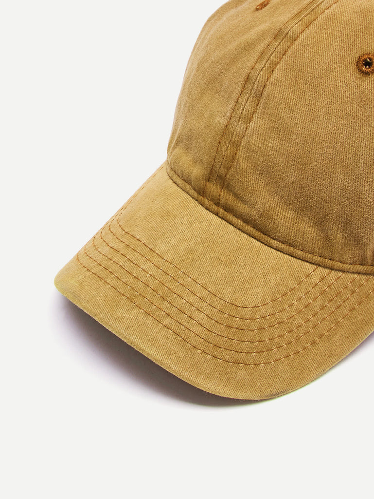 Embroidered Hole Detail Baseball Cap (4)