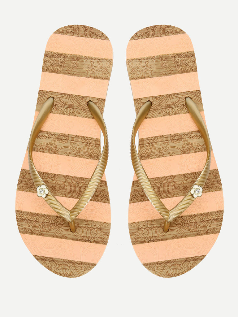 Block Striped Flip Flops (3)
