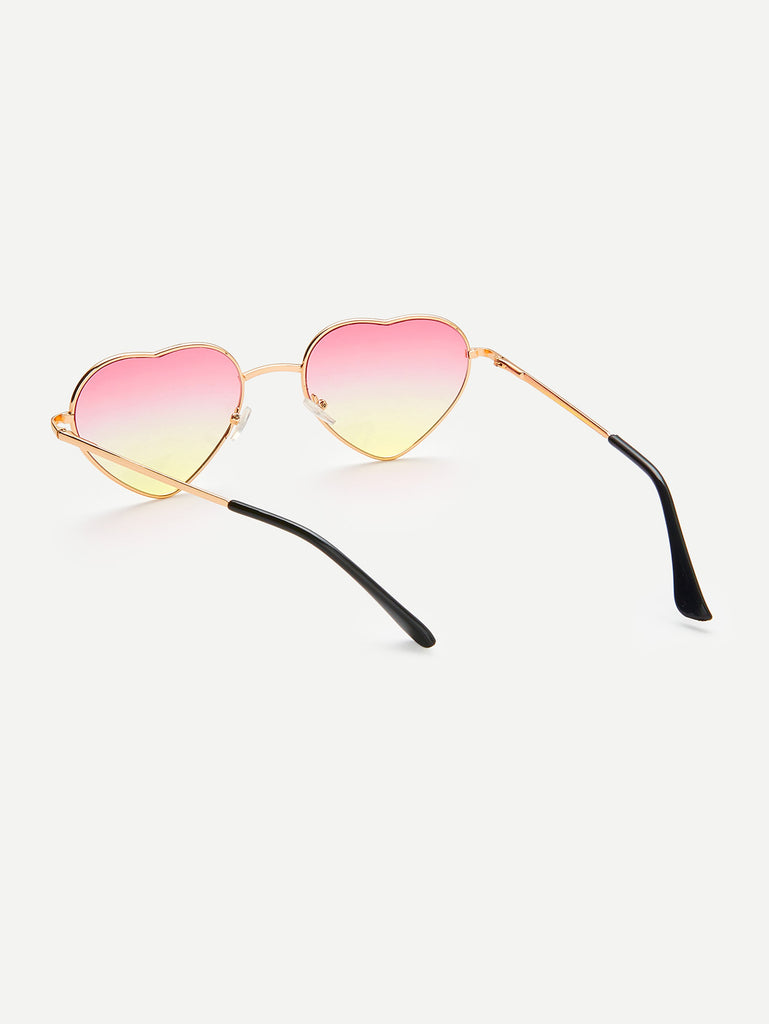 Heart Lens Ombre Sunglasses (2)