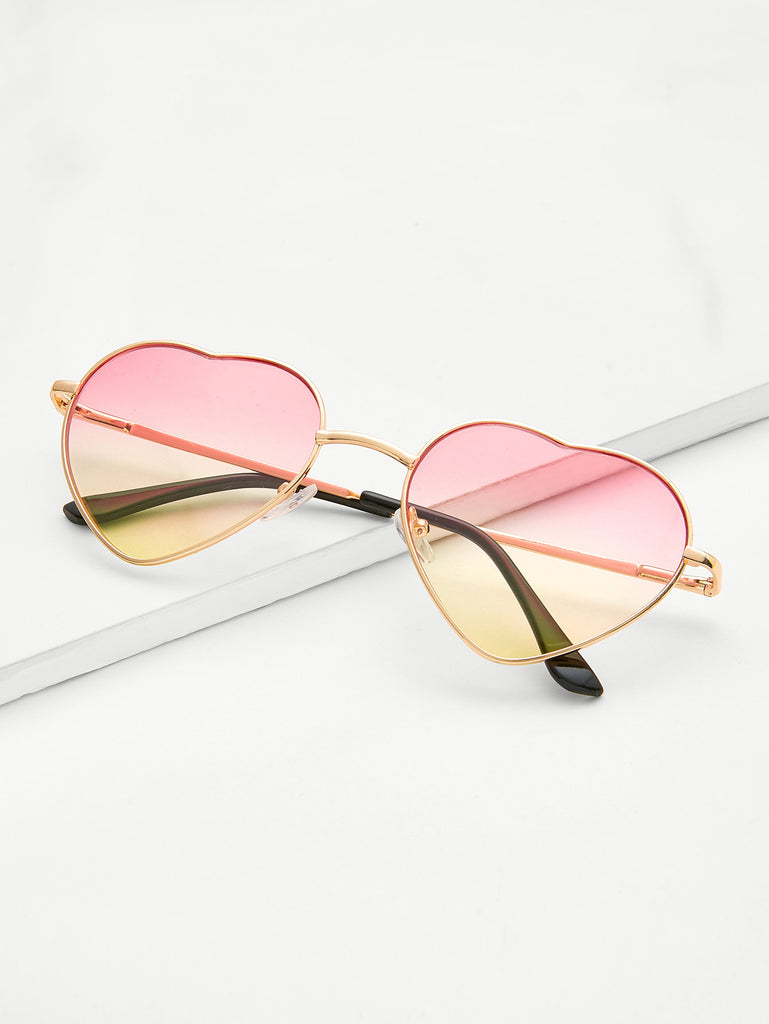 Heart Lens Ombre Sunglasses (3)