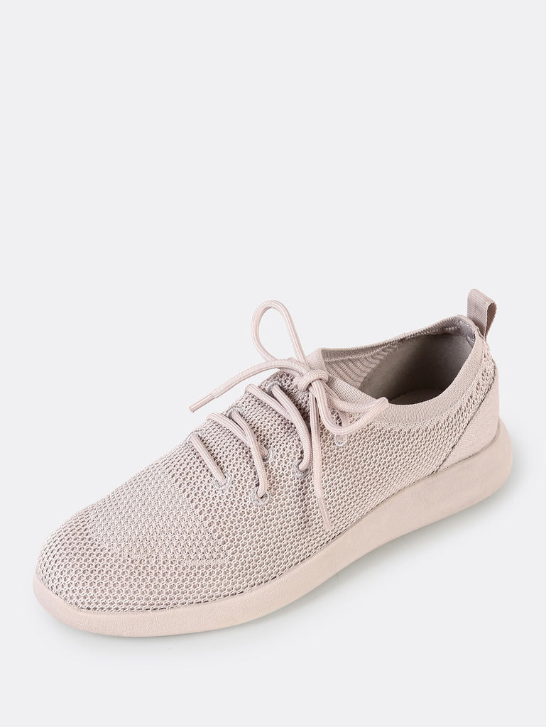 Lace Up Mesh Sneakers PALE GREY (2)