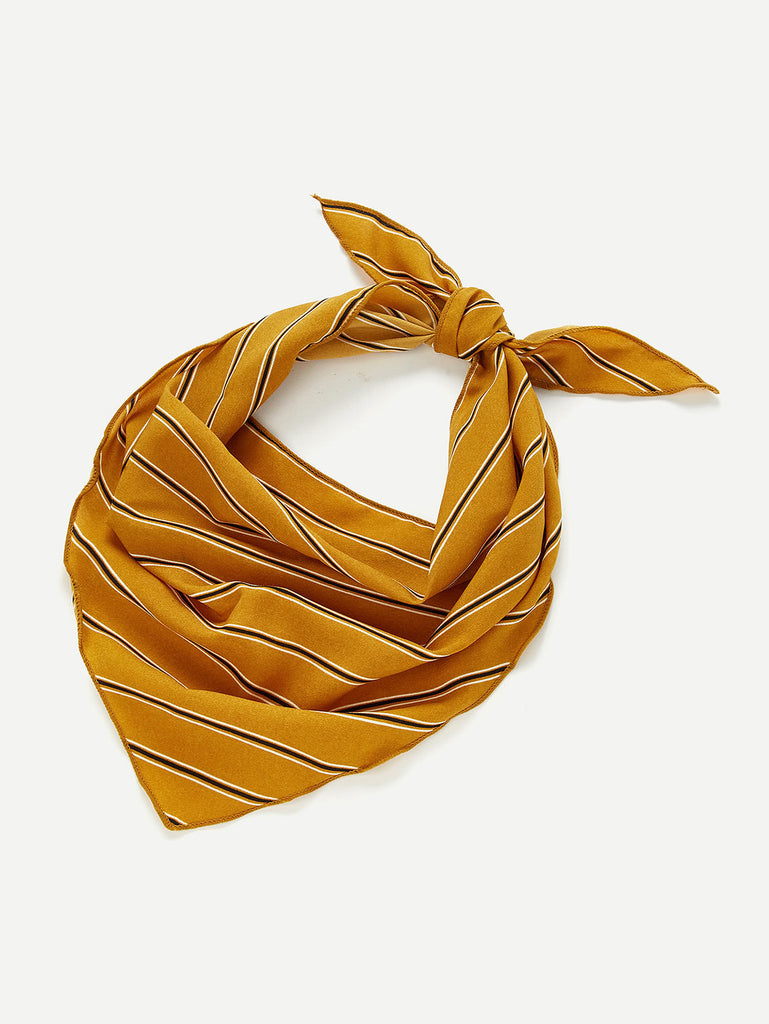Vertical Striped Print Twilly Scarf