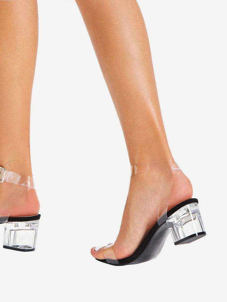 Clear Strap Block Heeled Sandals (2)