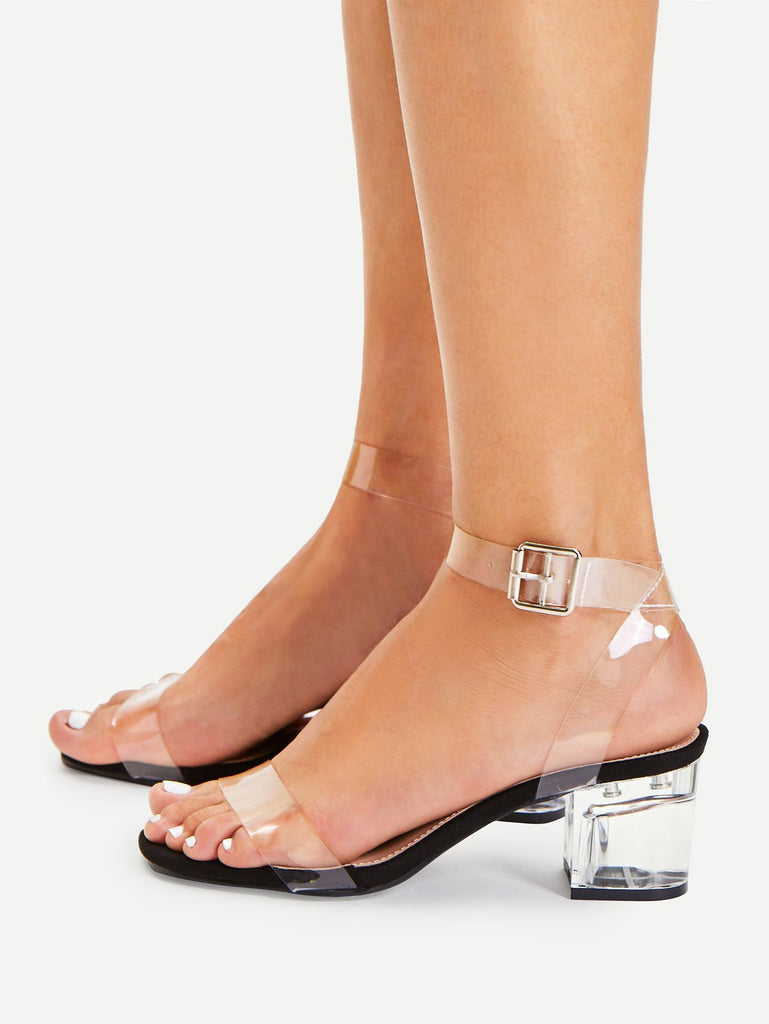 Clear Strap Block Heeled Sandals (3)