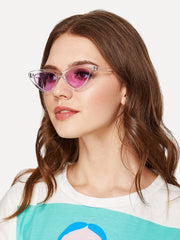 Clear Frame Cat Eye Sunglasses