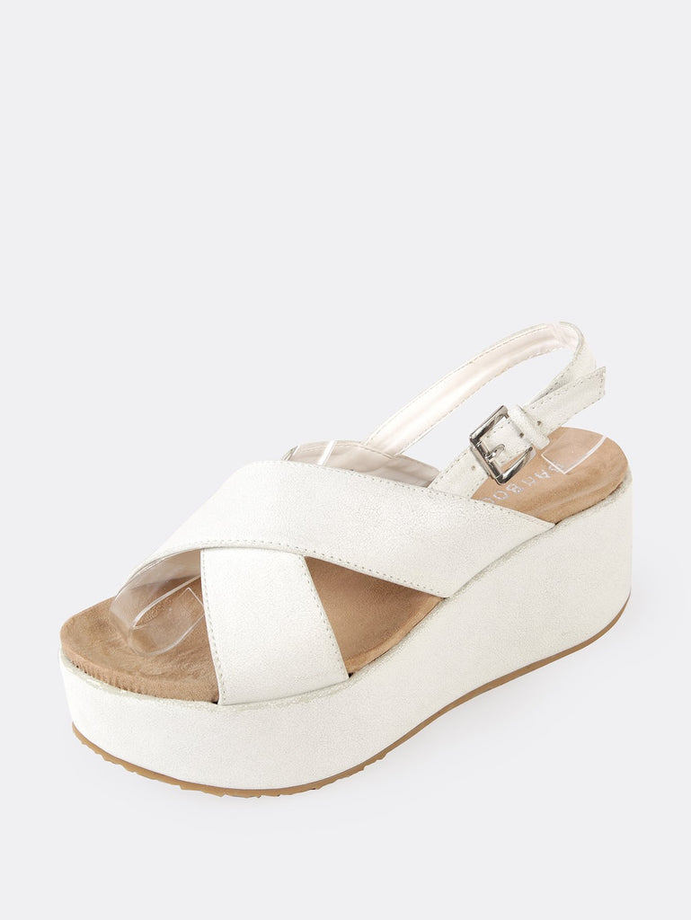 Crinkled Sling Back Wedge Sandal (2)
