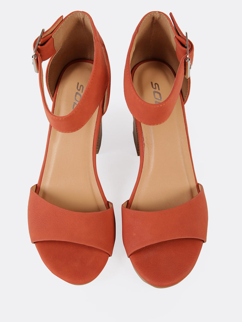 Ankle Strap Single Band Chunky Heel (2)
