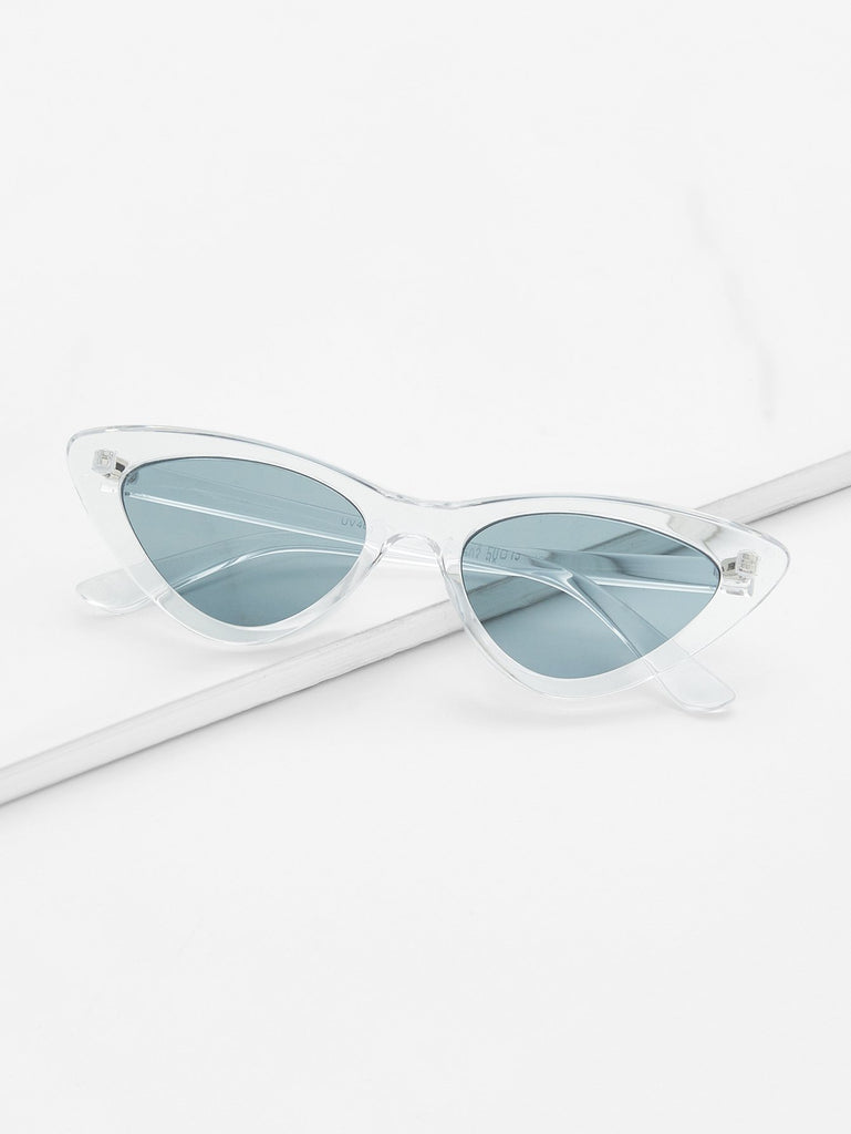Clear Frame Cat Eye Sunglasses (2)