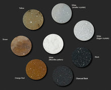 Natural Druzy Crystal Quartz option choices for backdrop insert for Pinup pendant