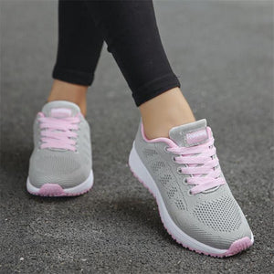 Fashion Breathable Walking Mesh Flat Shoes For Women