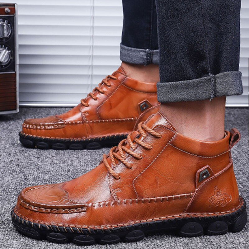 New Classic Genuine Leather Comfortable Men Casual Shoes