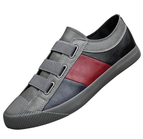 New Hot Fashion Men Leather Slip-On Casual Shoes