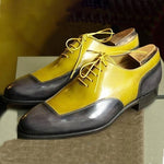 Handmade Color Block Men's Dress Shoes