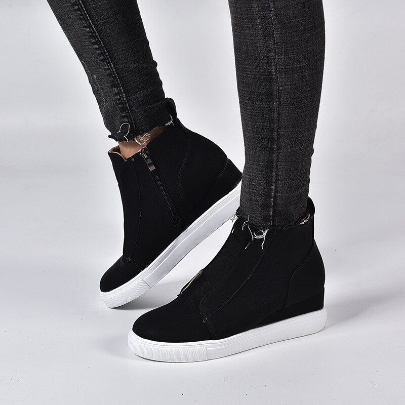 Fashion Round Toe Ankle Women Boots