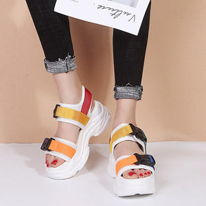 Fashion Colorful Platform Women's Sandals